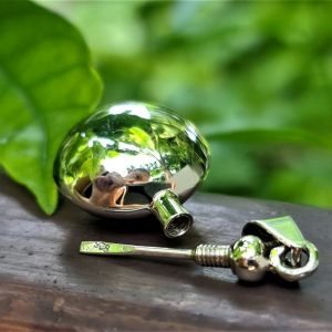 Locket Bottle Sterling Silver 925 Locket Pendant Water Tight Round Shape Perfume/Essential Oil 3D Locket/Pendant