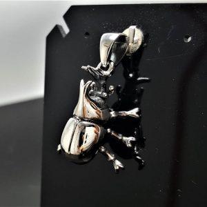 Rhinoceros Beetle STERLING SILVER 925 Pendant Stag Beetle Symbol of metamorphosis Hercules beetles Talisman