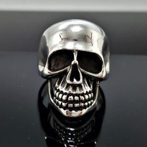 SKULL Ring Sterling Silver 925 Biker Rocker Punk Goth Brutal Exclusive Design