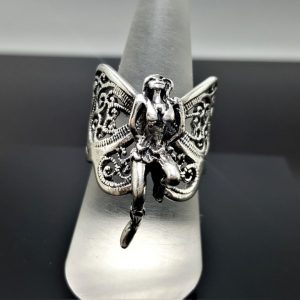 Fairy Elf Ring STERLING SILVER 925 Butterfly Angel Wings Beautiful Exclusive Gift