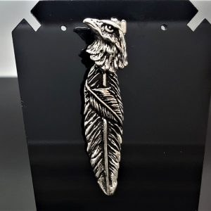Eagle Pendant STERLING SILVER 925 Eagle's Feather Movable Talisman Free Spirit