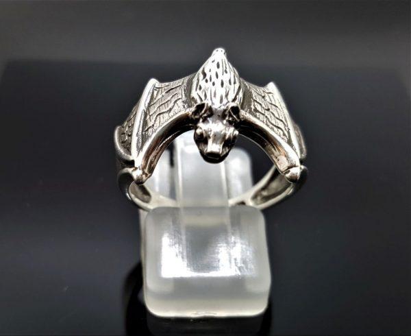 Bat Ring 925 Sterling Silver Vampire Gothic Rock Biker