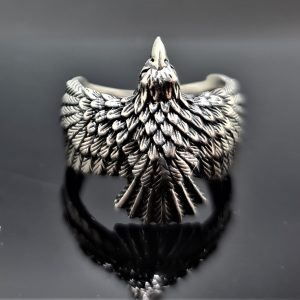 Eagle Ring Sterling Silver 925 Eagle's Wings Symbol of Great Strength Leadership & Vision Free Spirit Talisman Amulet
