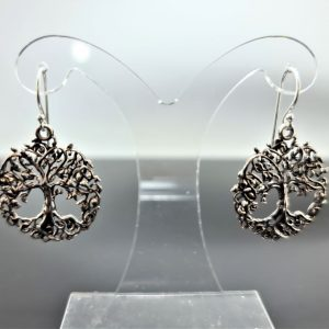Tree of Life Earrings 925 Sterling Silver Sacred Celtic Tree Symbol Energy Balance Universe Powers of Mother Earth Norse mythology