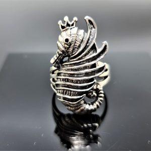Seahorse Ring Sterling Silver 925 Ocean Sea Horse Nautical Talisman Gift