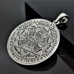 Seal of the Seven Archangels 925 STERLING SILVER Pendant Judaism Occult Esoteric Talisman Amulet Hermes Trismegistus As above, so below