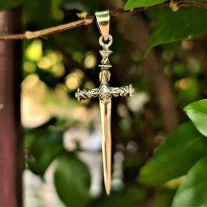 Dagger Pendant STERLING SILVER 925 Sword Ritual Dagger Talisman Amulet
