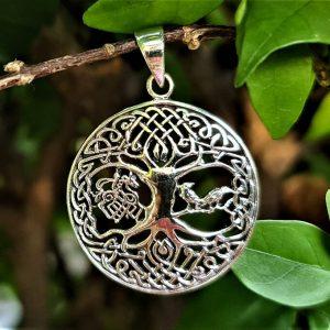 Tree of Life Pendant STERLING SILVER 925 Odin Horse Norse Symbol Universe Talisman Nordic Viking Sacred Amulet