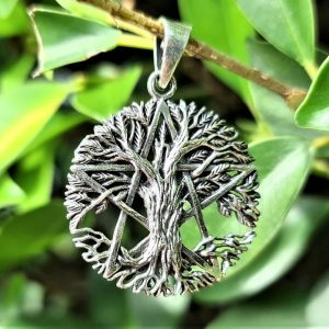 Pentagram Pendant 925 STERLING SILVER Tree of Life Pentacle Five Pointed Star Mystical Sacred Symbols Occult Talisman Protective Amulet