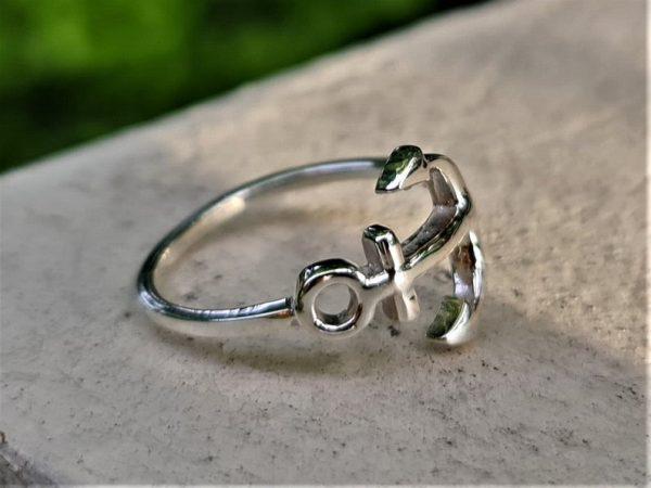 ANCHOR Ring STERLING SILVER 925 Nautical Mariners Anchor Cross Sailor Sea Talisman Nautical Amulet