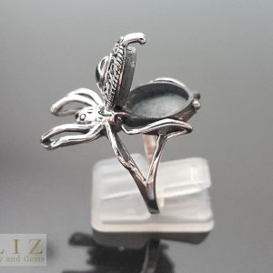 Eliz 925 Sterling Silver Ring Locket Spider Secret Compartment Cleopatra Poison/medicine Box