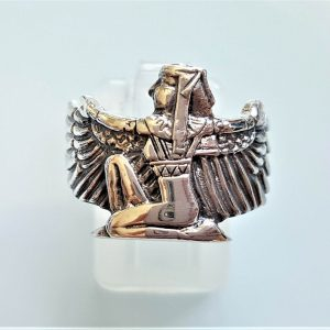 Isis Ring STERLING SILVER 925 Goddess of the Moon Ancient Egyptian Divine Mother of the Pharaoh Talisman Amulet