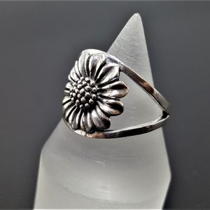 925 Sterling Silver Daisy Ring Sunflower Ring Sun flower Design