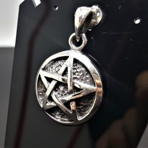 925 Sterling Silver Pentagram Star Sacred Symbols Five Pointed Star Talisman Protective Amulet Exclusive Gift Pendant