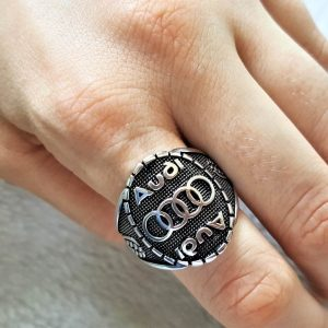 925 Sterling Silver AUDI Car Men's Ring Exclusive Design Perfect Gift for him