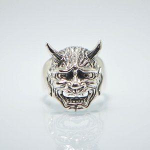 925 Sterling Silver Devils Mask Ring Eliz