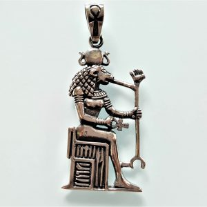 925 Sterling Silver Pendant Sekhmet Lioness God of Egypt Warrior Goddess Lion Protector of the Pharaohs Egyptian Ankh Sacred Symbol Talisman