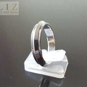 Eliz 925 Sterling Silver Knife Edge Spinner Ring Anti Stress Fidget Meditation Kinetic Unisex Gift