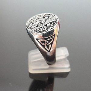 925 Sterling Silver Ring PENTAGRAM Celtic Knot Viking Symbol Exclusive Design Talisman Amulet Sacred Symbol Star