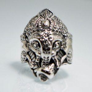 925 Sterling Silver Ganesh w/Conk Shell Ring Eliz