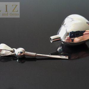 Eliz Sterling Silver 925 Locket Pendant Water Tight Perfume/Essential Oil 3D Heart Locket/Pendant