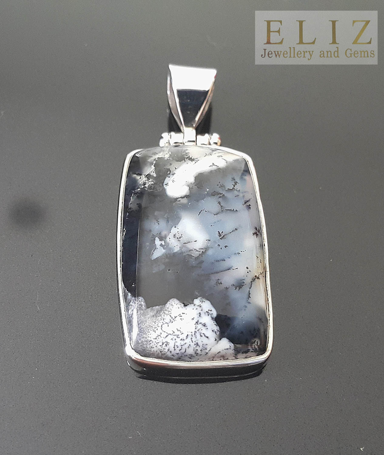 Natural Moss Agate And Amethyst Handmade 925 Sterling Silver Pendant 1.75 D2257