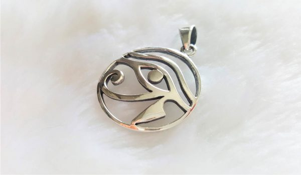 925 Sterling Silver Eye of Horus Pendant Ancient Egyptian Talisman Egyptian Symbol of Protection Royal Power