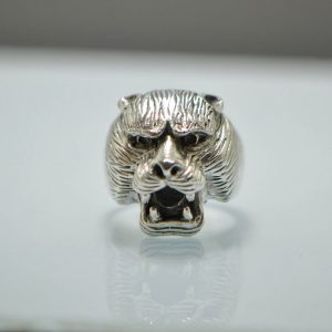 925 Sterling Silver Panther  15 Gram Ring Eliz