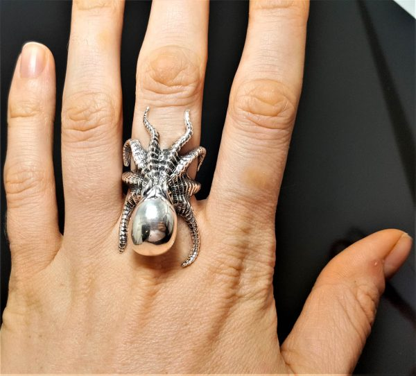 OCTOPUS RING 925 Sterling Silver Ocean Sea Animal Large Octopus Tentacles Cubic Zirconia Eyes Kraken Exclusive Gift