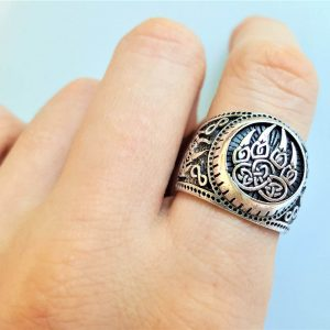 Bear Paw Claw Sterling Silver 925 Ring Sacred Symbol Viking Slavic Warding Veles Talisman Amulet