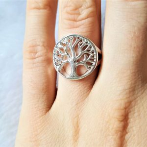 Tree of Life Ring 925 Sterling Silver Sacred Celtic Tree Symbol Energy Balance Universe Powers of Mother Earth Norse mythology