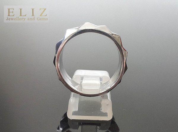 STERLING SILVER 925 Fidget Spinner Ring Punk Rock Stud Spinner Anti Stress Fidget Meditation Kinetic