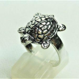 Turtle Ring STERLING SILVER 925 Sea Turtle Ocean Animal Good Luck Gift Totem Animal Talisman Amulet