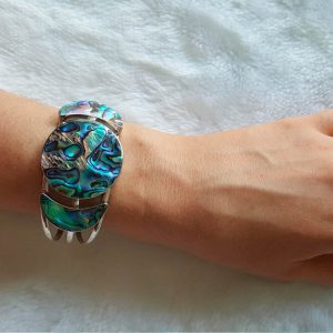 Abalone Haliotis STERLING SILVER 925 Bracelet Ocean Shell Adjustable Exclusive Design