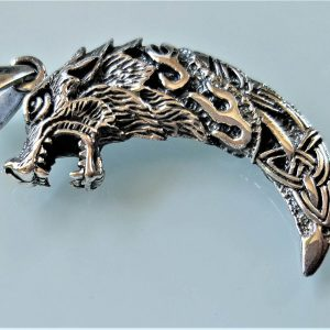 Wolf Fang STERLING SILVER 925 Pendant Wolf Claw Celtic Knot Viking Wolf Talisman Amulet