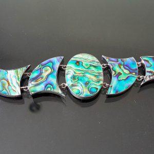 Abalone STERLING SILVER 925 Bracelet Haliotis Ocean Shell Bracelet Adjustable