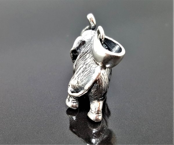Elephant STERLING SILVER 925 Pendant African Animal Good Luck Talisman Exclusive Design