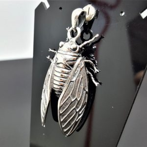 STERLING SILVER 925 Flying Bug Insect Pendant Fly Charm