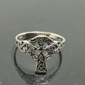 925 Sterling Silver Celtic Cross Ring