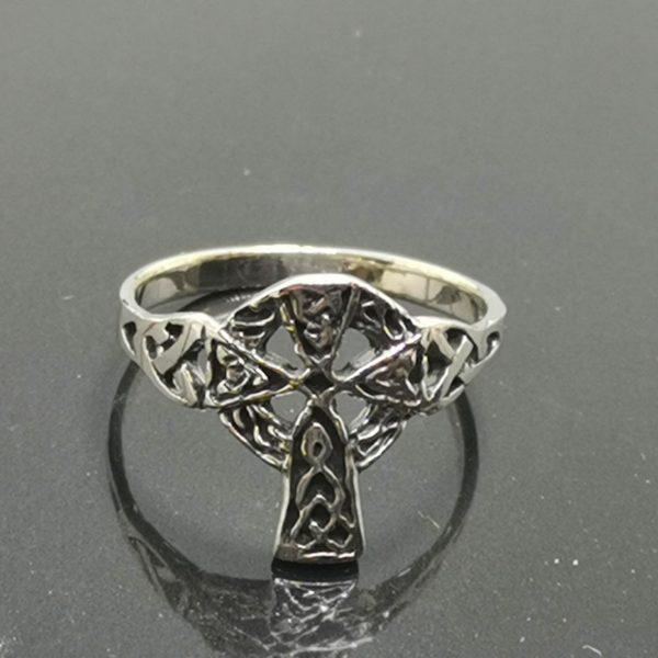 925 Sterling Silver Celtic Cross Ring