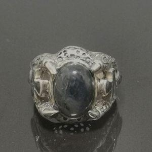 925 Sterling Silver Labradorite Ankh Claw Ring