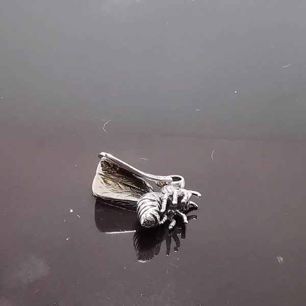 925 Sterling Silver Winged Wasp Pendant Flying Bug