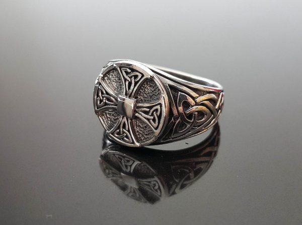 Celtic Knot Cross 925 Sterling Silver Ring Sacred Symbol Viking Pagan Talisman Amulet