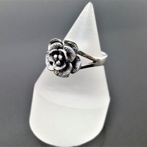 Rose Flower STERLING SILVER 925 Ring Floral Exclusive Design