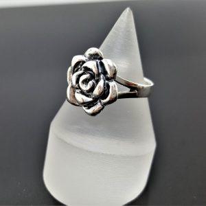 Rose Flower STERLING SILVER 925 Ring Floral Exclusive Design Ring ELIZ
