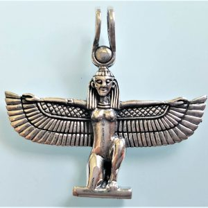 Isis Goddess STERLING SILVER 925 Pendant Ancient Egyptian Goddess Divine Mother of the Pharaoh Talisman Amulet