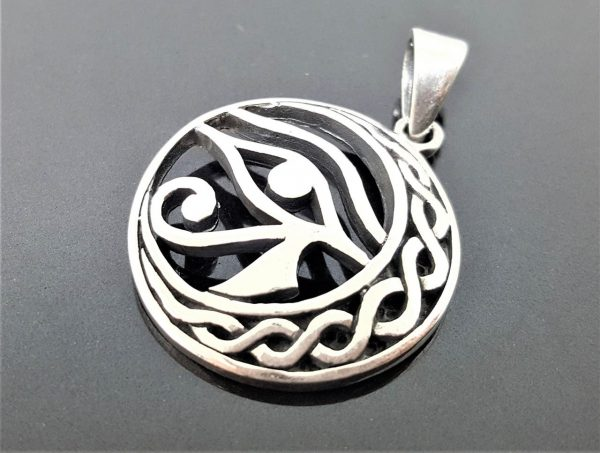 925 Sterling Silver Pendant Eye of Horus Ancient Egyptian Talisman Egyptian Symbol of Protection Royal Power