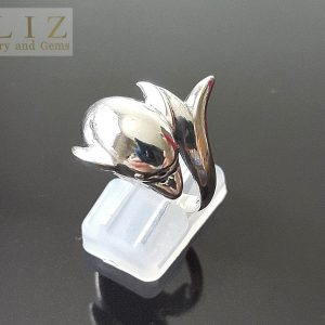 Dolphin 925 Sterling Silver Ring Dolphin Swirl Wrap Exclusive Gift Talisman Amulet Handmade