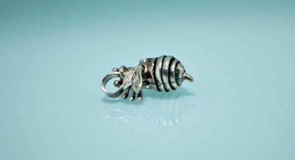 Bumble Bee 925 Sterling Silver Pendant Moving Wings Head Legs Pendant Charm