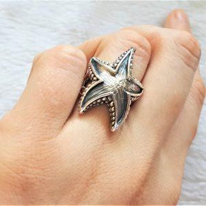 Starfish Sterling Silver 925 Ring Starfish Ocean Star Sea Nautical Talisman Gift